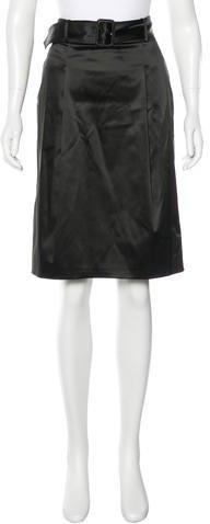 Burberry London Satin Pleated Skirt