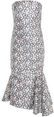 Balenciaga Sequinned and embroidered silk dress