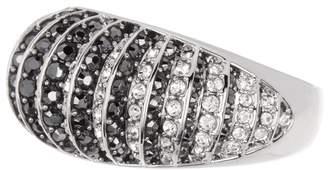 Swarovski Two-Tone Crystal Pave Bubble Ring - Size 8
