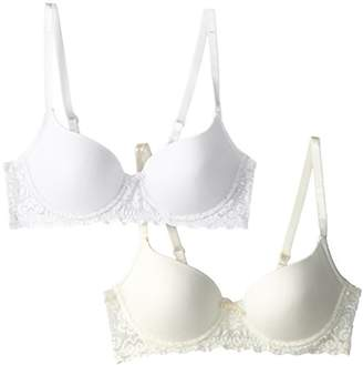 Lily of France Women's Smooth Lace Push Up 2-Pack Bra
