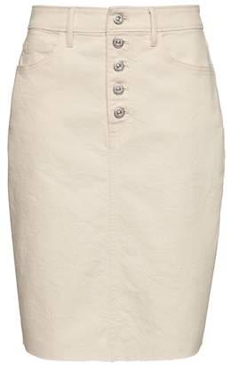 Banana Republic Petite Button-Fly Denim Skirt