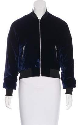 Alexander Wang Velvet Bomber Jacket