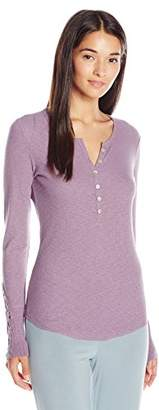 PJ Salvage Women's Rib Essentials Henley