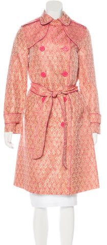 Marc by Marc Jacobs Double-Breasted Brocade Coat