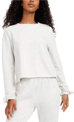 Miken Juniors' Envelope-Back Bow-Cuff Cover-Up Sweatshirt, Women Swimsuit