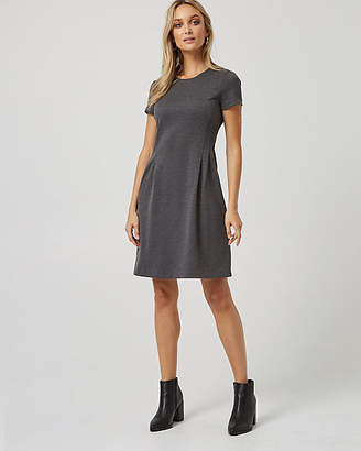 Le Château Ponte Pleated Fit & Flare Dress