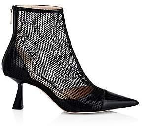Jimmy Choo Women's Kix Mesh& Patent Leather Booties