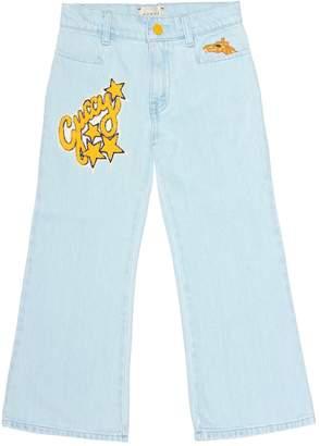 Gucci Kids Appliqued cotton jeans