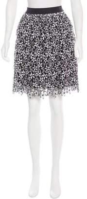 Self-Portrait Daisy A-Line Skirt