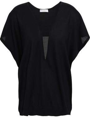 Brunello Cucinelli Bead-embellished Cashmere And Silk-blend Top