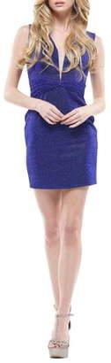 Colors Dress Metallic Mesh Minidress