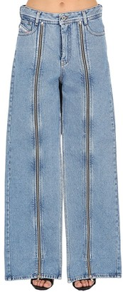 Diesel Shayne Oliver X Shayne Oliver Zip-Up Cotton Denim Jeans
