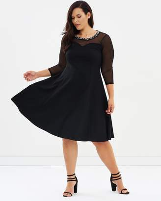 Evans Fit-and-Flare Dress