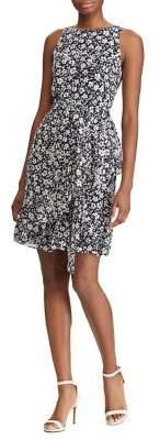 Lauren Ralph Lauren Floral Georgette Fit Flare Dress