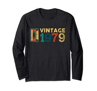 40th Birthday Gift Vintage 1979 Year Old Mixtape LongSleeve