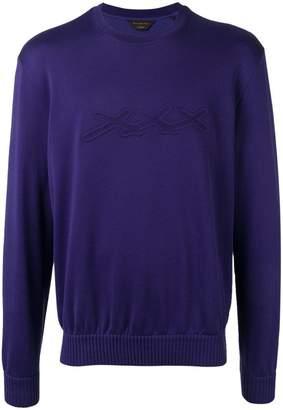 Ermenegildo Zegna XXX logo embroidered sweatshirt