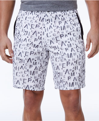 Armani Exchange Men's Graphic-Print Boardshorts $79.50 thestylecure.com