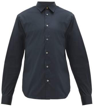 Paul Smith Slim Fit Cotton Blend Poplin Shirt - Mens - Navy