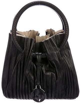 Giorgio Armani Pleated Leather Handle Bag