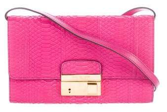 Michael Kors Embossed Gia Clutch - PINK - STYLE
