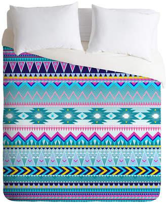 Deny Designs Iveta Abolina Tribal Teal Twin Duvet Set Bedding