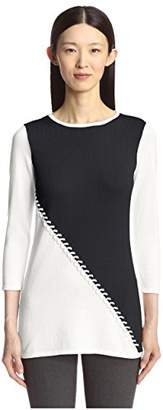 Society New York Women's Color Blocked Tunic Sweater