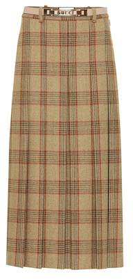 Gucci Checked wool skirt