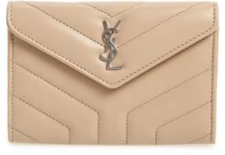 Saint Laurent Small Loulou Matelasse Leather Wallet