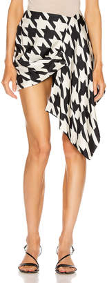 DANIELE CARLOTTA Asymmetric Skirt in Black & White | FWRD