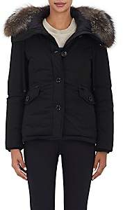 Moncler Women's Malus Fur-Trimmed Down Jacket - Black