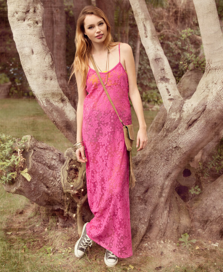 Forever 21 Lace Maxi Slip Dress