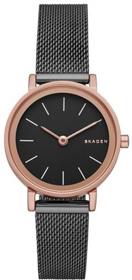Skagen 'Hald' Mesh Strap Watch, 26mm $165 thestylecure.com