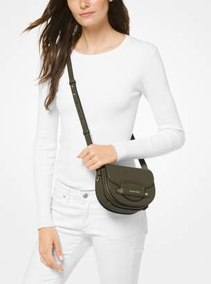 MICHAEL Michael Kors Cary Small Leather Saddle Bag