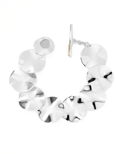 Ippolita Sterling Silver Scultura Wavy Disc Bracelet