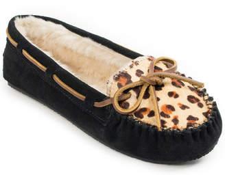 Minnetonka Leopard Print Cally Slipper Women Shoes