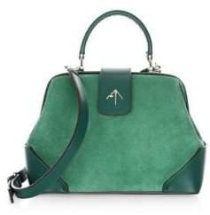 Atelier Manu Frame Suede Top Handle Bag