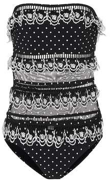 Zimmermann Jaya lace-trimmed bandeau swimsuit