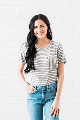 Everyday ShopRachel Parcell Heather Gray Striped Tee