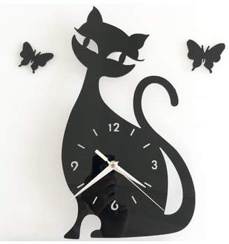 """Creative Motion Work with your hand to create a DIY Acrylic Cat Clock Design. It comes complete with clock, clock hands, cat and an instruction. Product Size: Height: 13"""" x Width:7.5 x 0.7"""