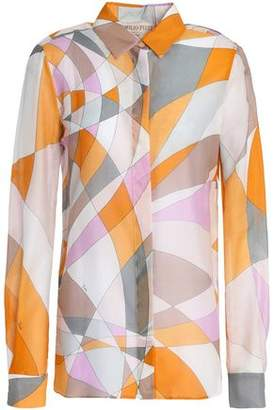 Emilio Pucci Printed Cotton And Silk-Blend Shirt