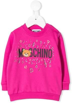 Moschino Kids music print sweater