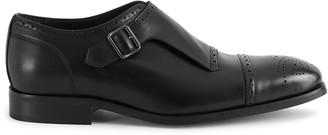 Reiss Raven - Monk Strap Shoes in Black