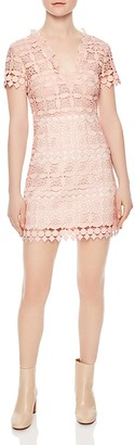 Sandro Manureva Lace Mini Dress $570 thestylecure.com