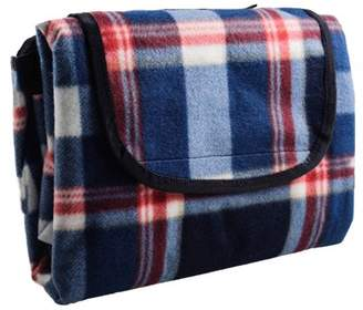"HYSEAS Water Resistant All Purpose, Extra Large Outdoor Blanket, 73"" x 80"", Blue Plaid"