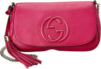 Gucci Pink Leather Chain Soho Bag