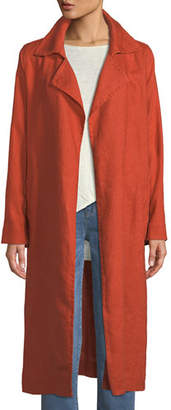 Eileen Fisher Heavy Organic Linen Trench Coat, Plus Size
