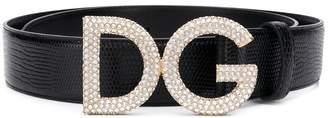 Dolce & Gabbana embellished logo buckle belt