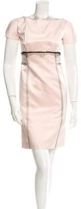Lela Rose Silk Sheath Dress