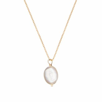 Lily & Roo Gold Large single Pearl Necklace