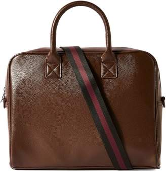 Topman Textrued Faux Leather Laptop Bag